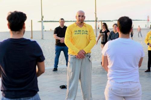 Знакомство с Фалуньгун во время проведения «Евровидения» в Израиле